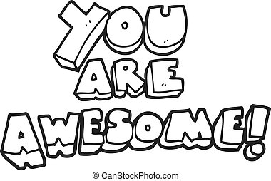 freehand drawn cartoon you are awesome text eps vector search clip rh canstockphoto co uk you're so awesome clip art thank you you are awesome clip art