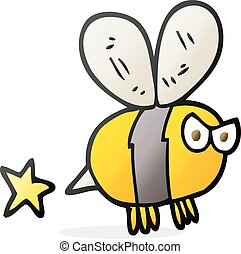 cartoon angry bee