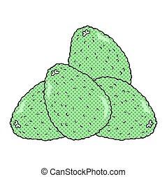 cartoon avocados - freehand drawn cartoon avocados