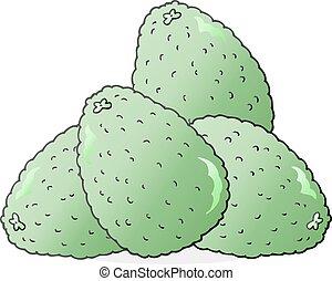 cartoon avocados