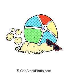 cartoon beach ball - freehand drawn cartoon beach ball
