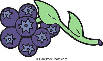 cartoon blueberries