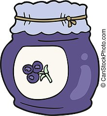 cartoon blueberry jam
