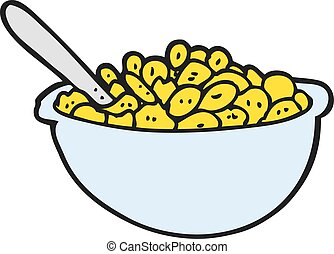 freehand drawn cartoon bowl of cereal eps vectors search clip art rh canstockphoto co uk Cartoon Cereal Bowl Cereal Bowl Drawing
