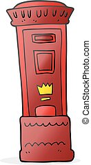 cartoon british post box