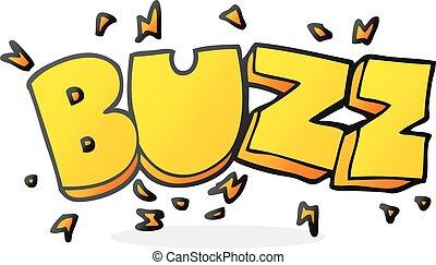 cartoon buzz symbol - freehand drawn cartoon buzz symbol