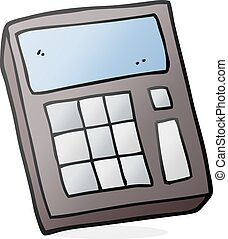 cartoon calculator - freehand drawn cartoon calculator