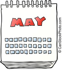 cartoon calendar showing month of may
