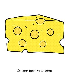 cartoon cheese - freehand drawn cartoon cheese