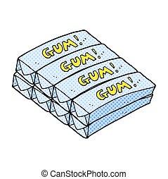 cartoon chewing gum - freehand drawn cartoon chewing gum