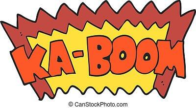cartoon comic book explosion