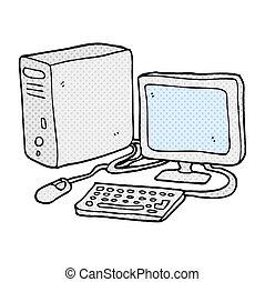 cartoon computer