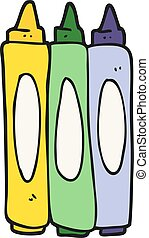 cartoon crayons