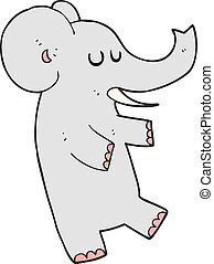 cartoon dancing elephant
