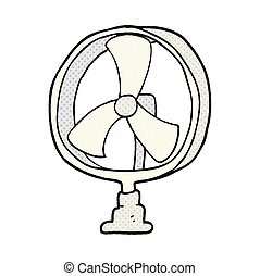 cartoon desk fan
