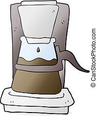 cartoon drip filter coffee maker
