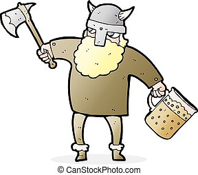 cartoon drunk viking