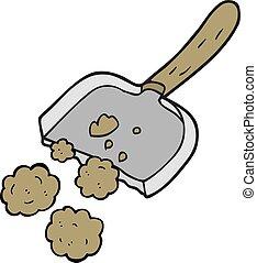 cartoon dust pan - freehand drawn cartoon dust pan