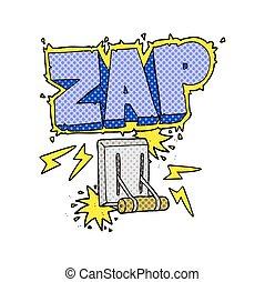 cartoon electrical switch zapping - freehand drawn cartoon...