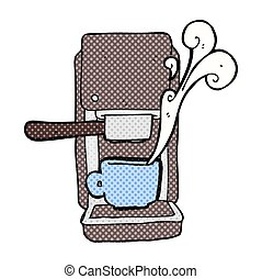 cartoon espresso maker