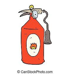 cartoon fire extinguisher - freehand drawn cartoon fire...