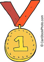 cartoon first place medal
