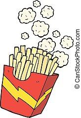 cartoon french fries