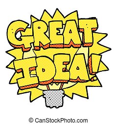 cartoon GREAT IDEA! symbol