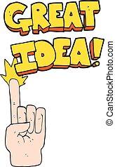 cartoon great idea symbol