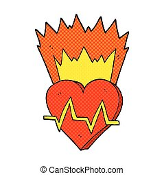cartoon heart rate - freehand drawn cartoon heart rate