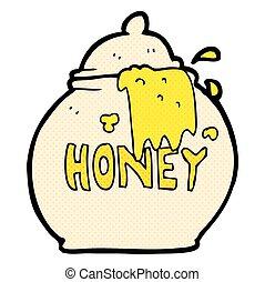 freehand drawn cartoon honey pot