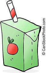 cartoon juice box - freehand drawn cartoon juice box
