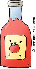 cartoon ketchup - freehand drawn cartoon ketchup