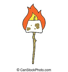 cartoon marshmallow on stick