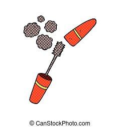 cartoon mascara - freehand drawn cartoon mascara