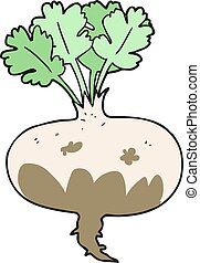 cartoon muddy turnip - freehand drawn cartoon muddy turnip
