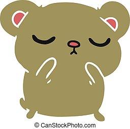 cartoon of a cute bear