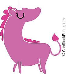 cartoon of cute kawaii unicorn