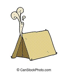 cartoon old smelly tent - freehand drawn cartoon old smelly ...