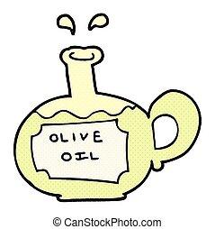 cartoon olive oil