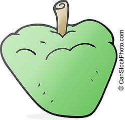 cartoon organic apple - freehand drawn cartoon organic apple