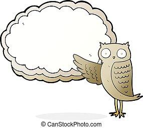 cartoon owl pointing