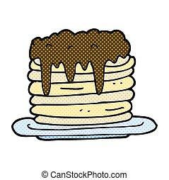 cartoon pancake stack