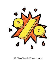 cartoon percentage symbol - freehand drawn cartoon...