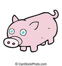 cartoon piglet - freehand drawn cartoon piglet