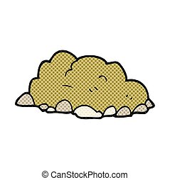 cartoon pile of dirt