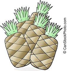 cartoon pineapples