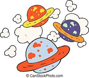 cartoon planets