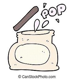 cartoon popping jar - freehand drawn cartoon popping jar