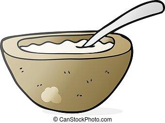 freehand drawn cartoon porridge